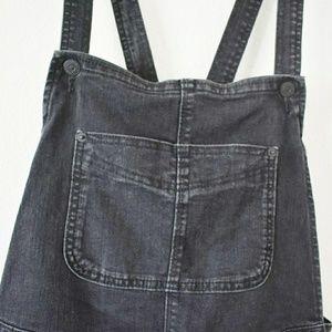 Black Levi's denim overalls